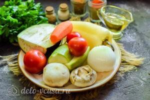 Овощи, запеченные в фольге: Ингредиенты