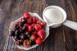 Варенье из клубники и черешни на зиму: Ингредиенты