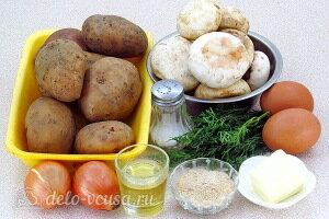 Запеканка из картофельного пюре с грибами: Ингредиенты