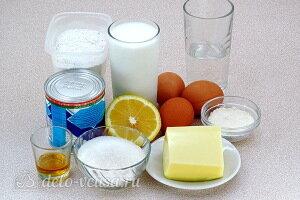 Бисквитный торт «Сладкий сон» с кремом из манки: Ингредиенты