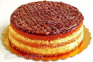 Бисквитный торт «Сладкий сон» с кремом из манки готов