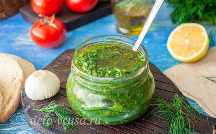 Рецепт быстрый чесночный соус с зеленью