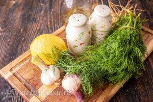 Быстрый чесночный соус с зеленью: Ингредиенты