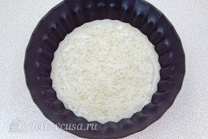 Смазываем форму маслом и выливаем в нее тесто