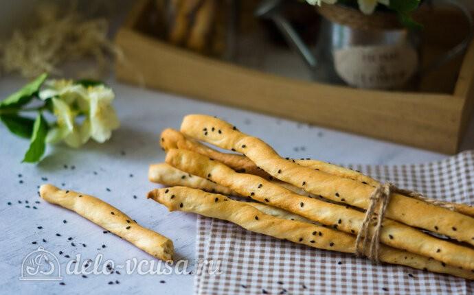 Гриссини хлебные палочки: фото блюда приготовленного по данному рецепту