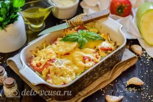 Кабачки «Летний каприз» с шампиньонами и сыром готовы