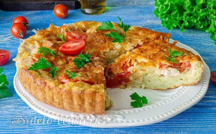 Кабачковая пицца с курицей в духовке: фото блюда приготовленного по данному рецепту