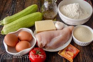 Кабачковая пицца с курицей в духовке: Ингредиенты