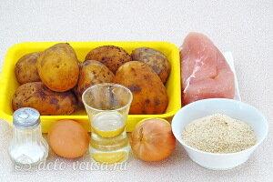 Картофельно-куриные котлеты из отварного мяса: Ингредиенты