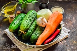 Кимчи из огурцов по-корейски: Ингредиенты