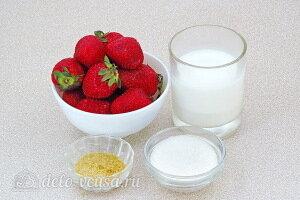 Клубничный крем со сливками и желатином: Ингредиенты