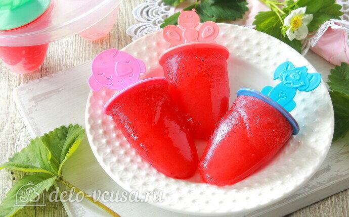 Рецепт клубничный лед на палочке