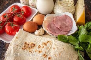 Конвертики из лаваша с ветчиной и сыром: Ингредиенты