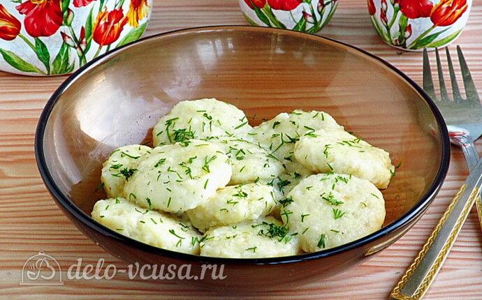 Ленивые вареники с картошкой и творогом