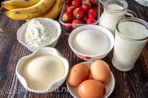 Манник с клубникой и бананом: Ингредиенты