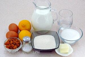 Манный пудинг с лимонным сиропом: Ингредиенты
