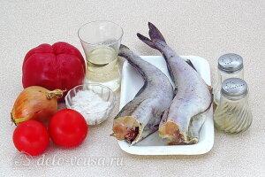 Минтай тушеный с перцем и помидорами: Ингредиенты