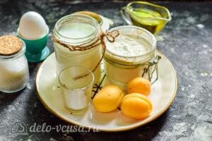 Оладьи с абрикосами на кефире: Ингредиенты