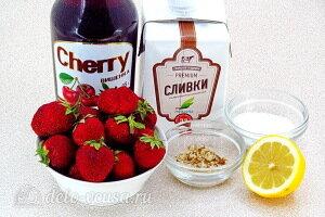 «Пьяная» клубника со взбитыми сливками: Ингредиенты