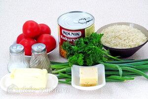 Рис с помидорами и кукурузой: Ингредиенты