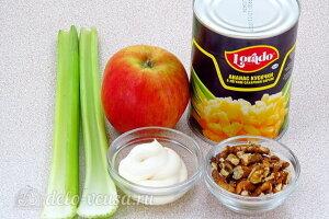 Салат из сельдерея с ананасом и яблоком: Ингредиенты