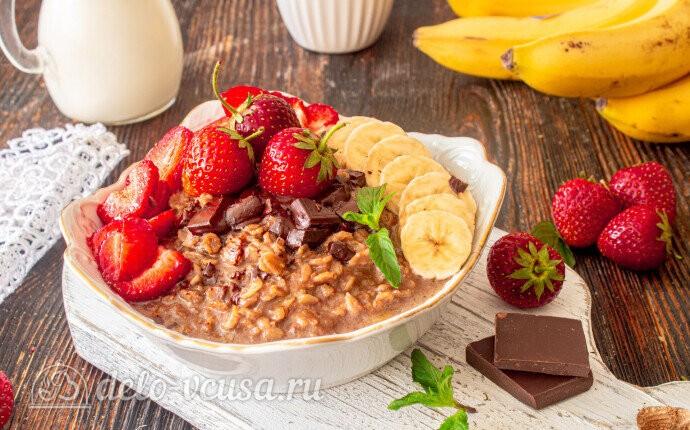 Шоколадная овсяная каша: фото блюда приготовленного по данному рецепту