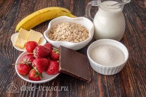 Шоколадная овсяная каша: Ингредиенты