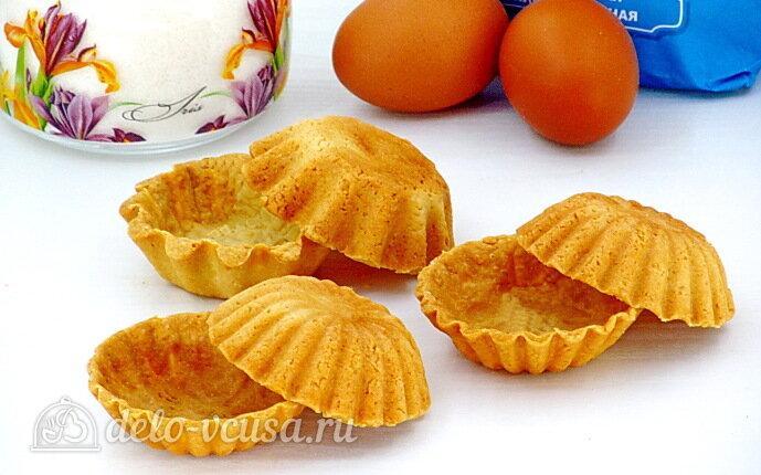 Сладкие корзиночки из песочного теста: фото блюда приготовленного по данному рецепту