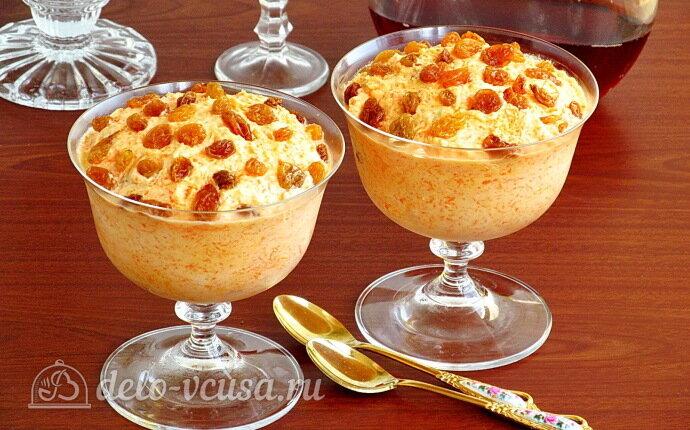 Рецепт сливочный десерт с морковью без выпечки