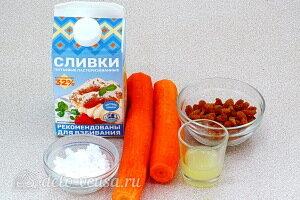 Сливочный десерт с морковью без выпечки: Ингредиенты