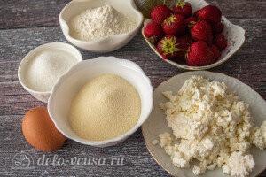 Сырники с клубникой на сковороде: Ингредиенты