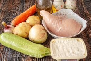 Сырный суп с фрикадельками и кабачками: Ингредиенты
