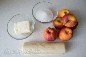 Тарт Татен с яблоками из слоеного теста: Ингредиенты