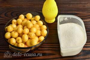 Варенье из желтой черешни «Пятиминутка» без косточек: Ингредиенты