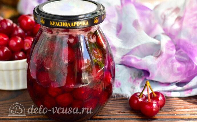 Варенье из вишни «Пятиминутка» с косточками на зиму