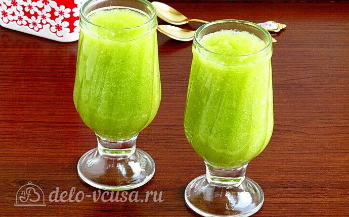 Рецепт витаминный смузи из яблока, сельдерея и лайма