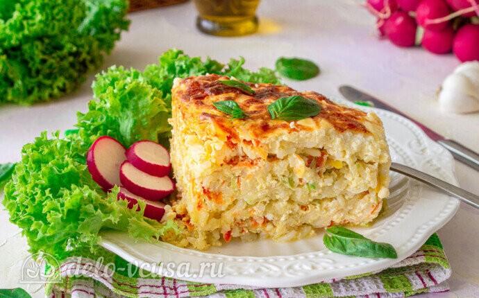 Запеканка из риса и кабачков: фото блюда приготовленного по данному рецепту
