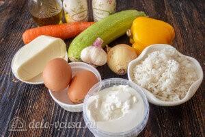 Запеканка из риса и кабачков: Ингредиенты