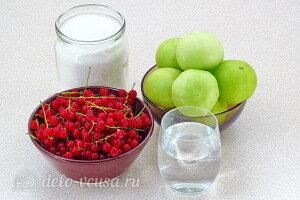 Варенье из зелёных помидоров в соке красной смородины: Ингредиенты