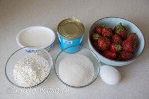 Дырявый пирог с клубникой «Роke cake»: Ингредиенты