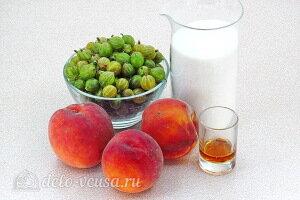 Джем из крыжовника и персиков в мультиварке: Ингредиенты