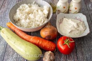Ежики из кабачков с рисом без мяса: Ингредиенты