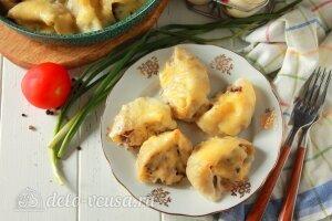Фаршированные ракушки с курицей и грибами готовы