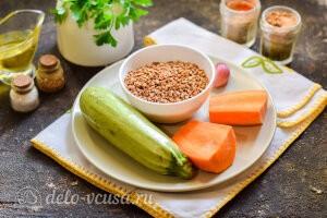 Гречневая каша с кабачками и морковью: Ингредиенты