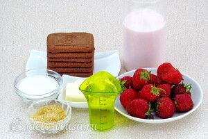 Йогуртовый торт с клубникой без выпечки: Ингредиенты