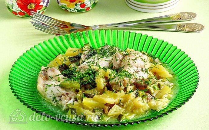Рецепт куриные крылышки с овощами и шампиньонами в мультиварке
