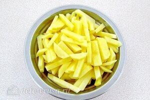 Картошку режем соломкой