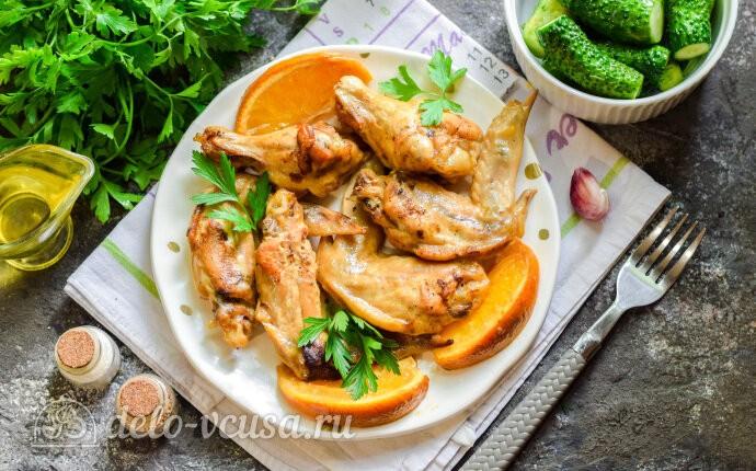 Куриные крылышки в апельсиновом маринаде в духовке