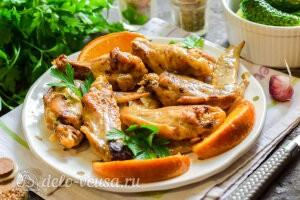 Куриные крылышки в апельсиновом маринаде в духовке готовы