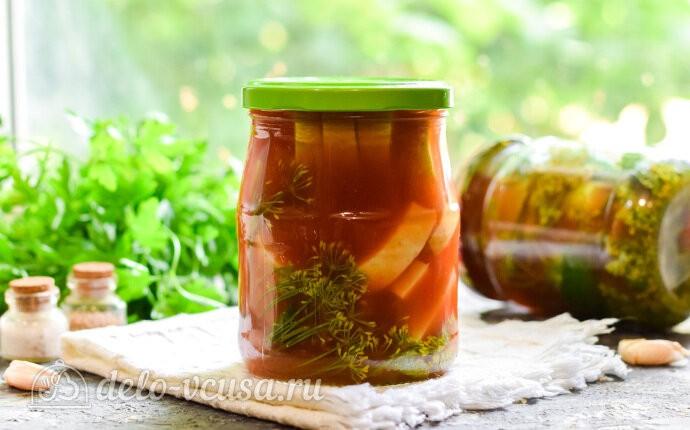 Маринованные кабачки в томатном соусе «Кровавая Мэри» на зиму